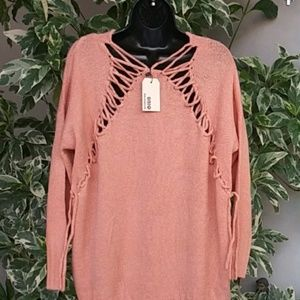 New Back Laced Oversized Soft Sweater